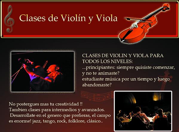 clases de violin, viola