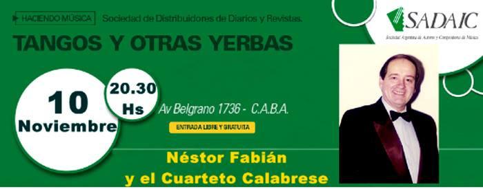 Concierto con Nestor Fabian, Violin Adolfo Halsband
