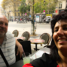 con la Artista Paula Franco