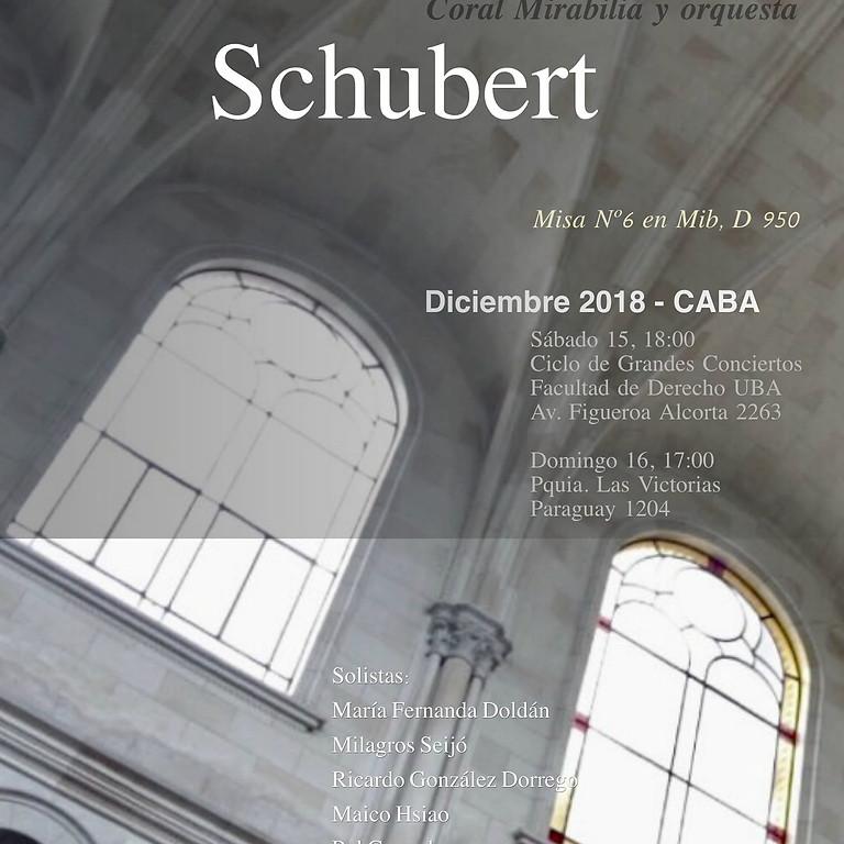 Schubert  Mirabilia y Orquesta
