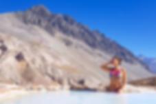 Hiking Santiago Chile Hotspring