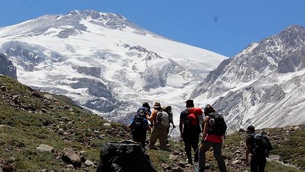 Trekking Glaciar Nieves Negras, Ubicado