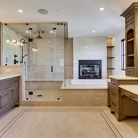 Bathroom & Fireplace