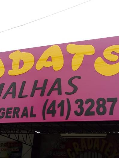 Gradatex Fachada Acrílicos Curitiba