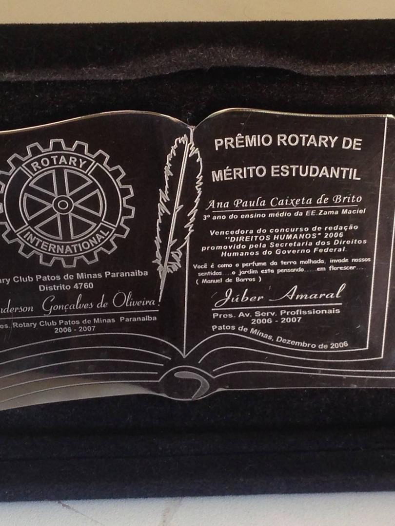 Placa de Homenagem Acrílicos Curitiba