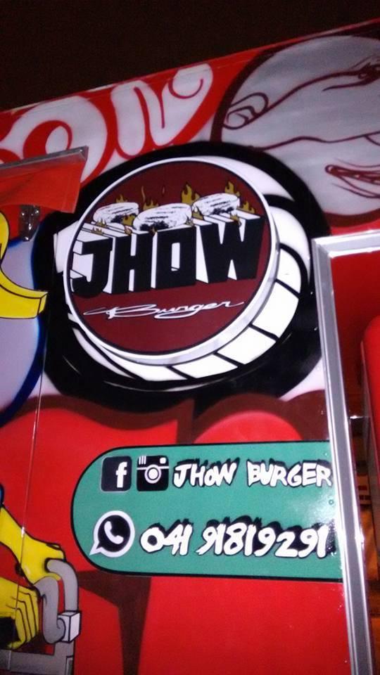 Jhow Burger Fachada Acrílicos Curitiba