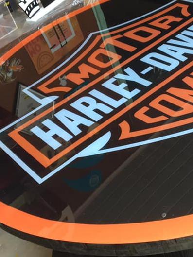 Harley Davidson Fachada Acrílicos Curitiba
