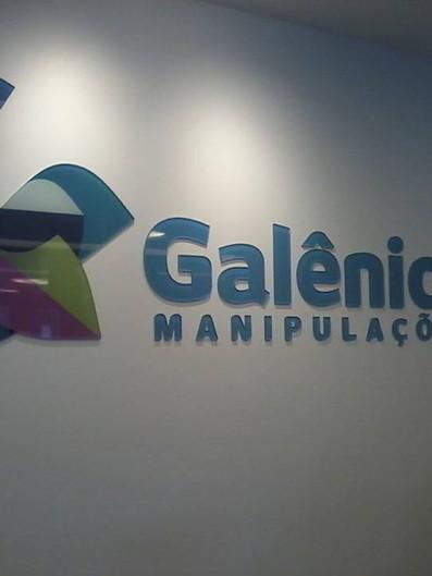 Galênica Manipulações Fachada Acrílicos Curitiba