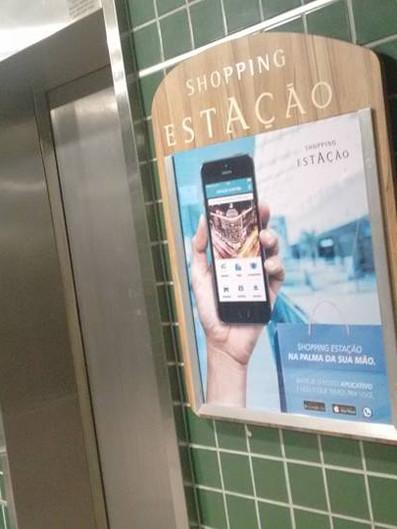 Shopping Estação Placas Acrílicos Curitiba