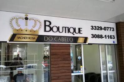 Boutique do Cabelo Fachada Acrílicos Curitiba