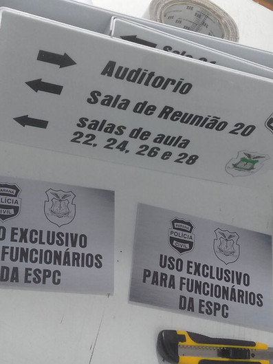 Polícia Civil Placas Acrílicos Curitiba