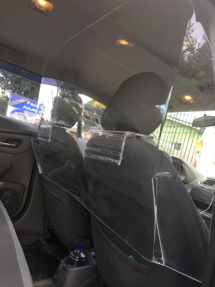 Proteção carro Covid19 Acrílicos Curitiba