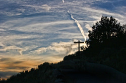 Cross on hill'