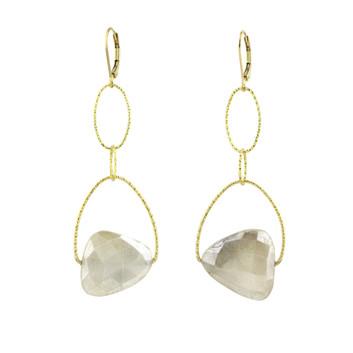 Large Moonstone Lovelier Earring - Melis