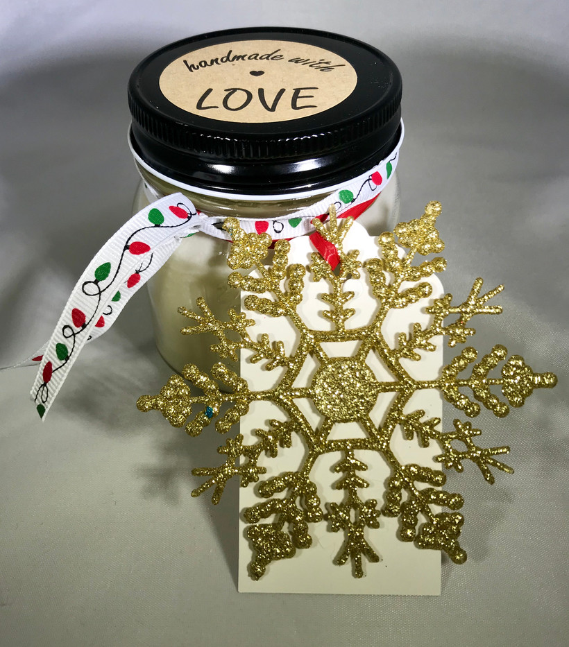 golden snowflake candle - Extraordinary