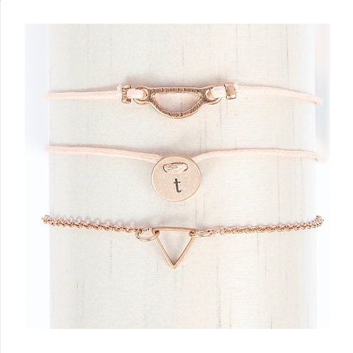 Rose Gold Tone Friendship Bracelets