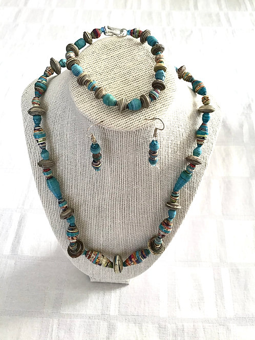 Handmade Kenyan Jewelry Set
