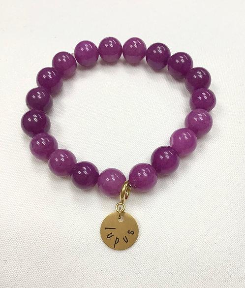 Plum Grape Bracelet and Charm