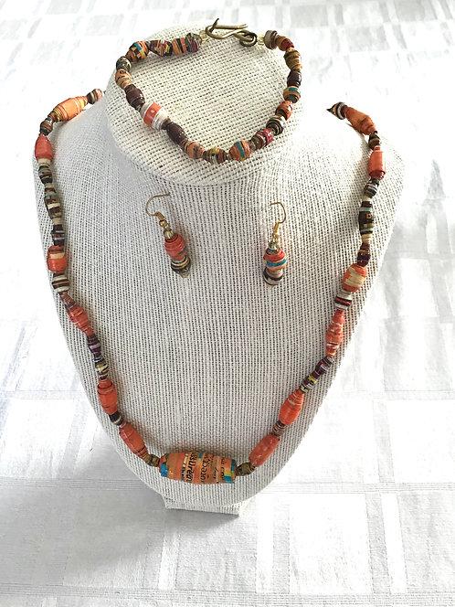 Handmade Kenyan Jewelry Set