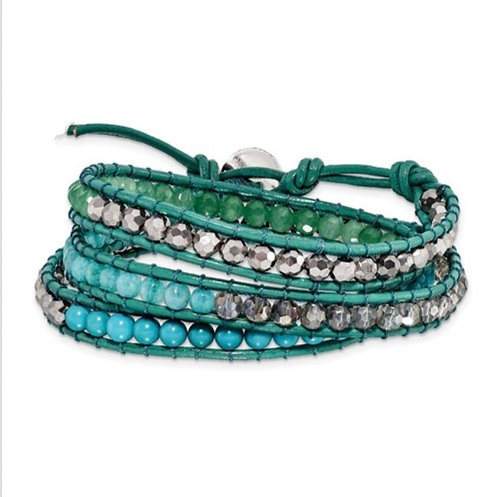 I dream of Green Wrap Bracelet