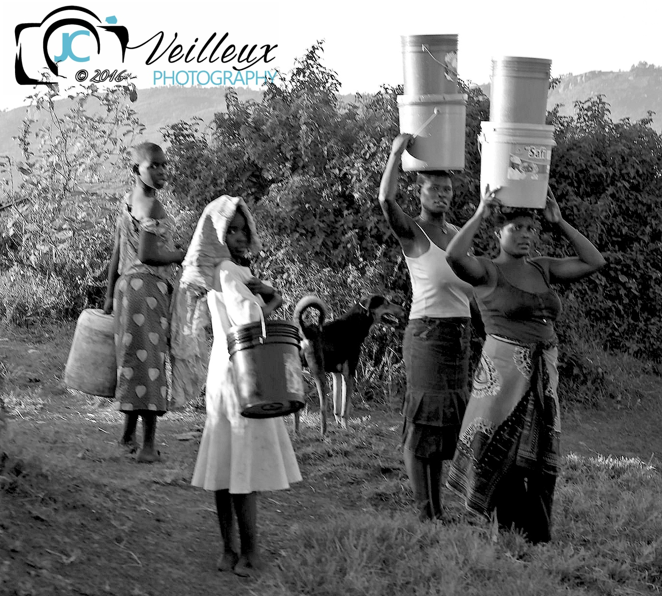 Women Hauling Water