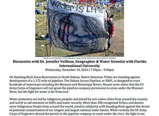 Free Public Lecture Update on Standing Rock, Miami