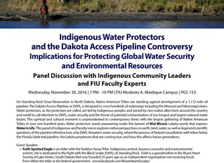 Public Panel Discussion: Standing Rock - an Indigenous Led Movement for Human and Water Security