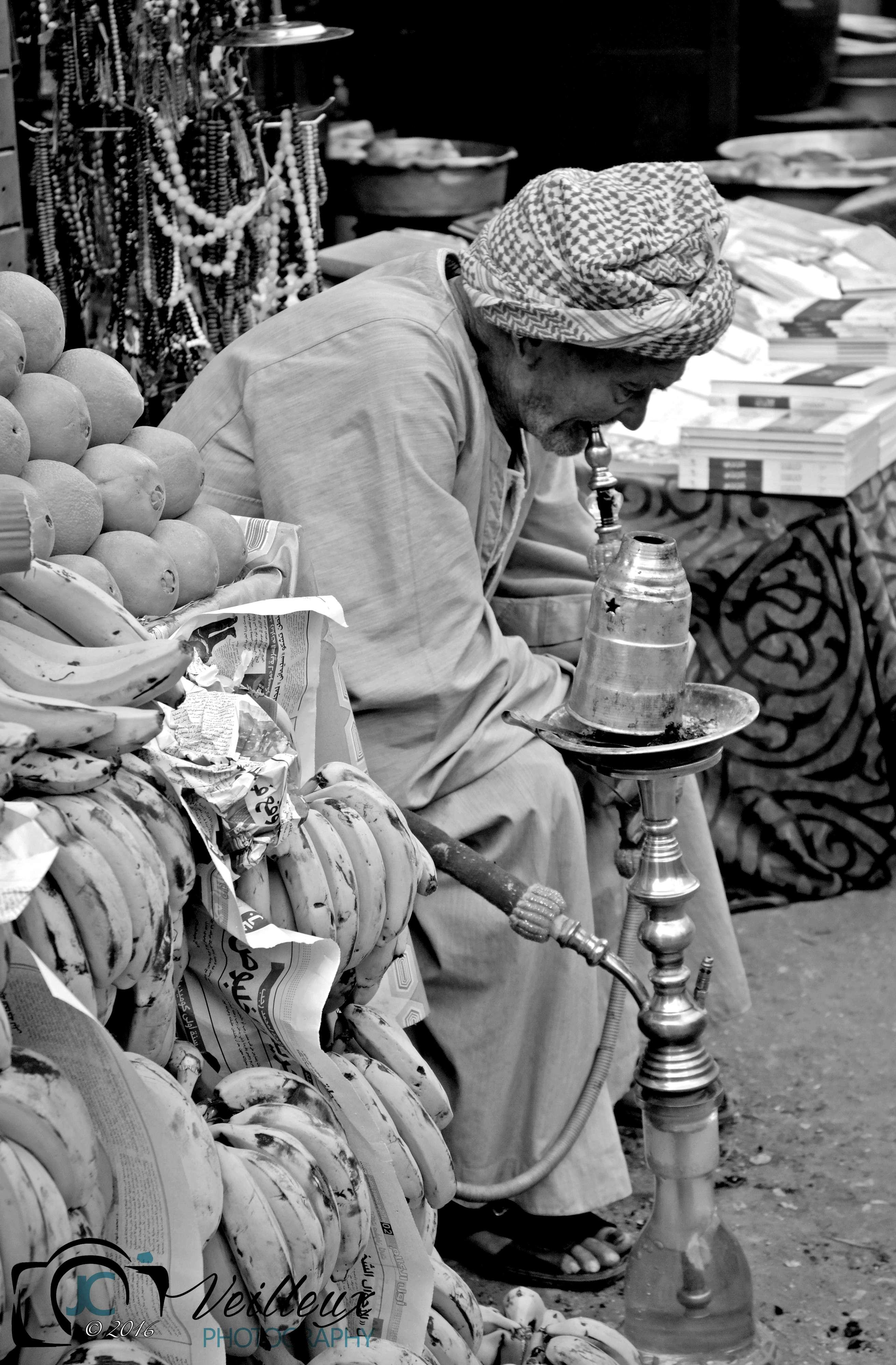 Man in Cairo Market