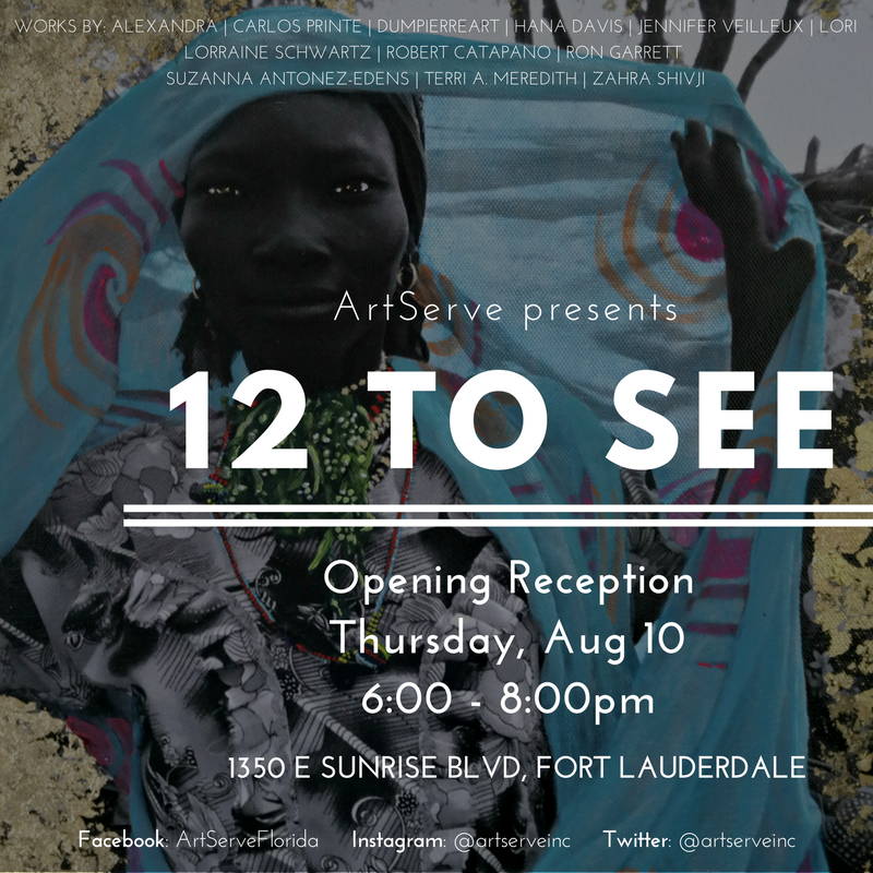 12 to See Art Show Advertisement