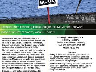 Free Public Lecture on Standing Rock