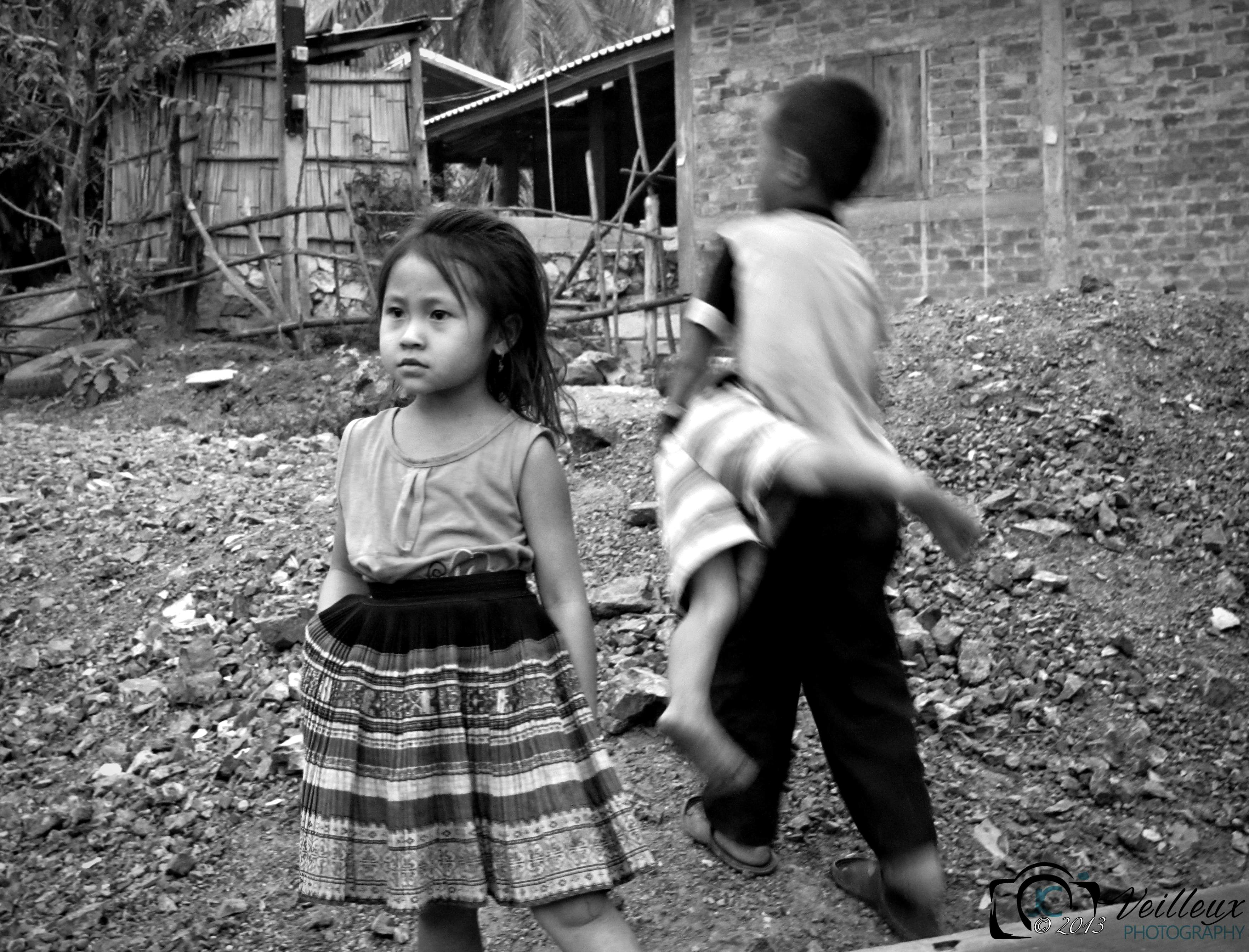Hmong Girl and her Brothers