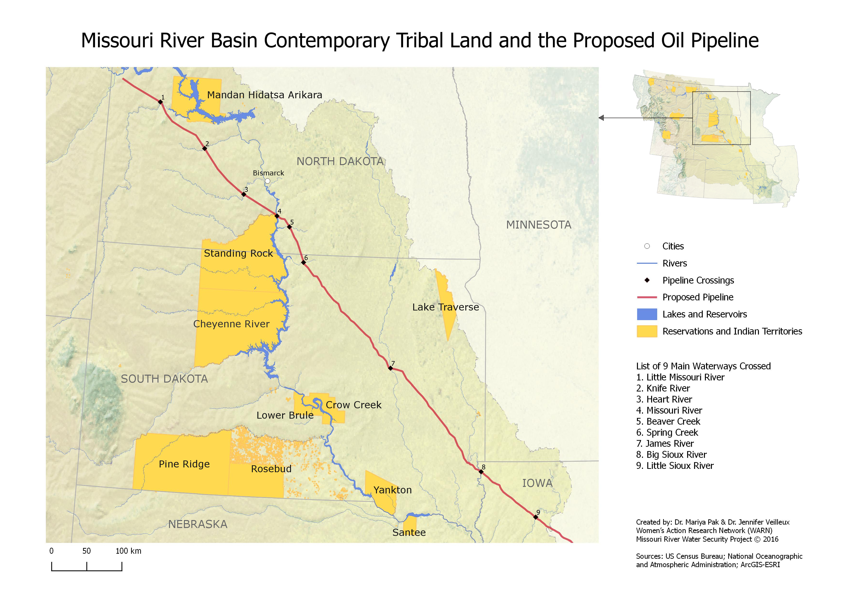 Close Up of DAPL and Tribal Lands