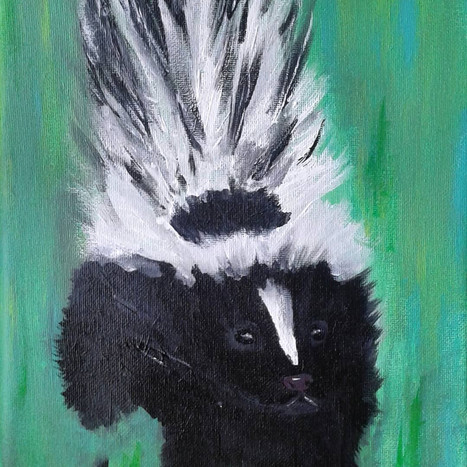 Stunning Tailed Striped Skunk