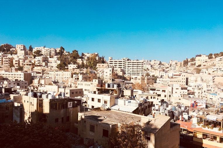 panoramic view of amman city center in Jordan