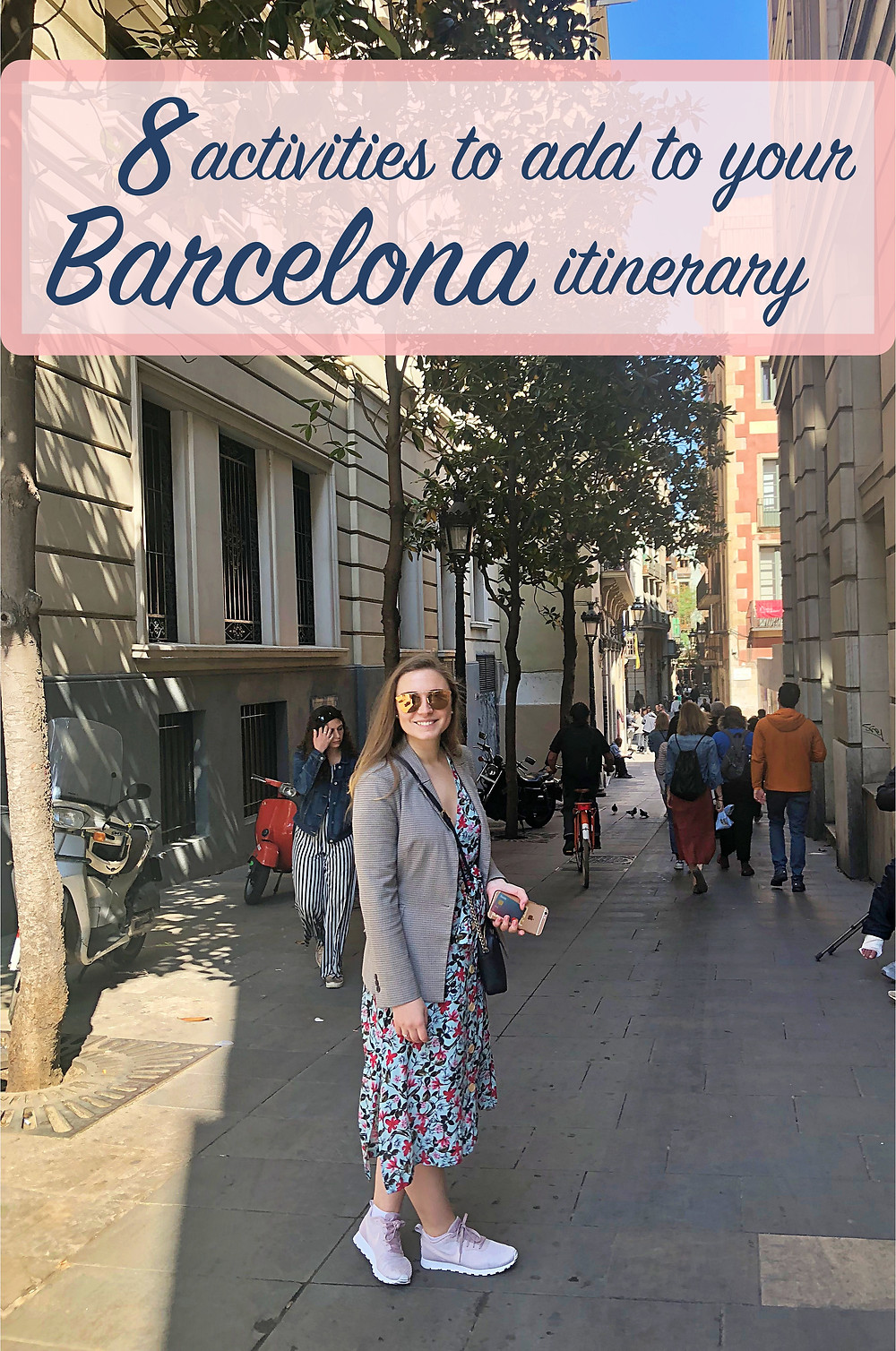 """<img src=""""alt-text-seo-post.jpg"""" alt=""""Girl in Barcelona with text overlay – 8 activities to add to your Barcelona itinerary"""""""" data-pin-description=""""8 activities to do in barcelona #barcelonabachelorette #8activitiesinbarcelona #bacheloretteinbarcelona #activitiesinbarcelona #barcelona #whattodoinbarcelona"""">"""