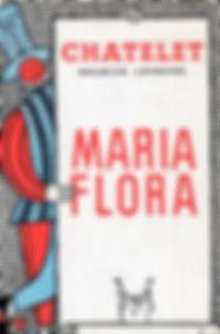 """Affiche de l'opérette """"Maria Flora""""."""