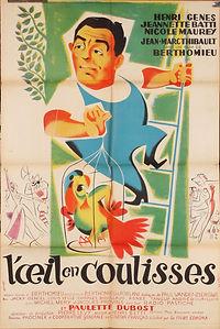 """Affiche du film """"L'Oeil en Coulisses""""."""