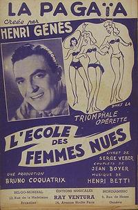 """Couverture de la partition de musique de """"La Pagaïa""""."""