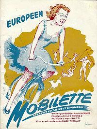 """Couverture du programme de l'opérette """"Mobilette""""."""