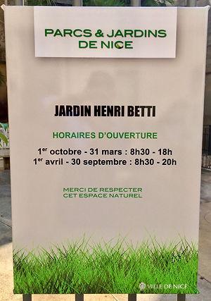 Plaque Henri Betti à Nice.