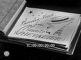 """Photo du court-métrage """"Rendez-vous avec Maurice Chevalier""""."""