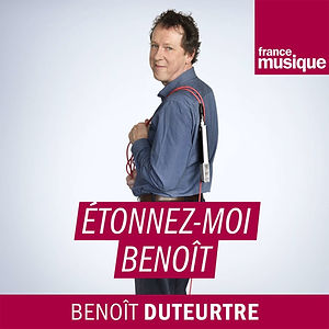 """Logo de l'émission de radio """"Étonnez-moi Benoît""""."""