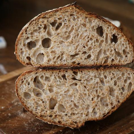 50% Wholewheat Sourdough £3.20/£2
