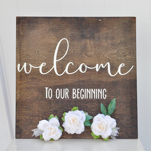Wood Welcome Board