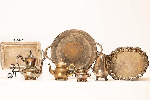 Antique Silver Serving Pieces