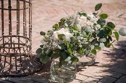 vases with eucalyptus