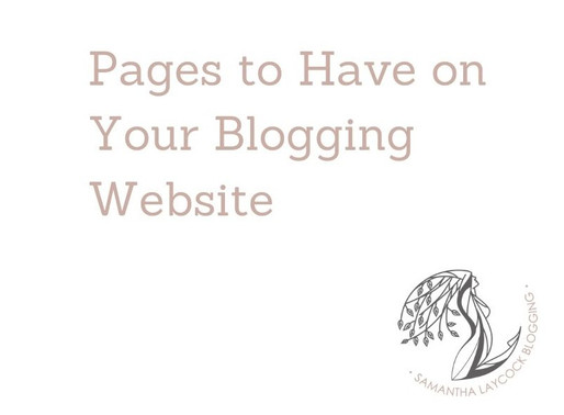 Pages to Have on Your Blogging Website