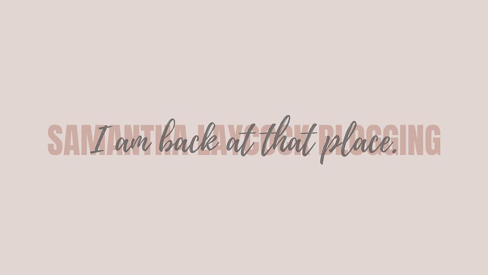 Blogging helps to bring me back.