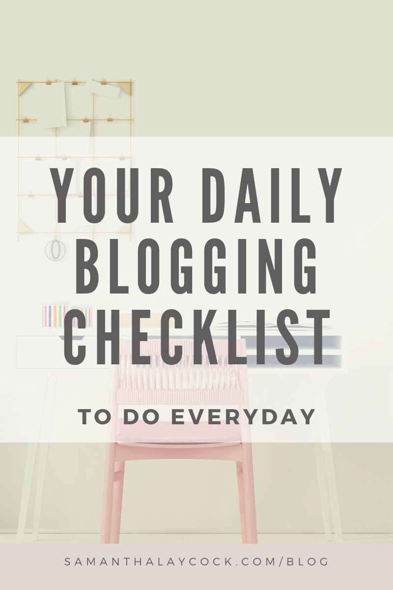 Organize your blog to do list.