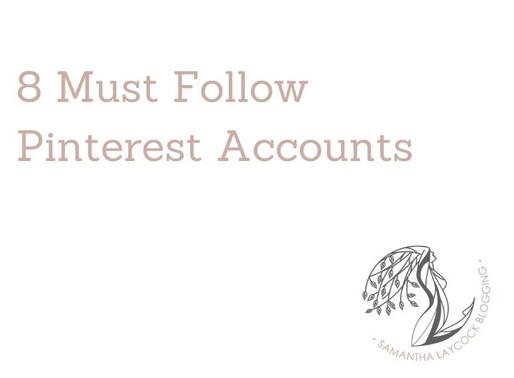 8 Must Follow Pinterest Accounts